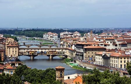 ponte: Beautiful bridge Ponte Vecchio Stock Photo