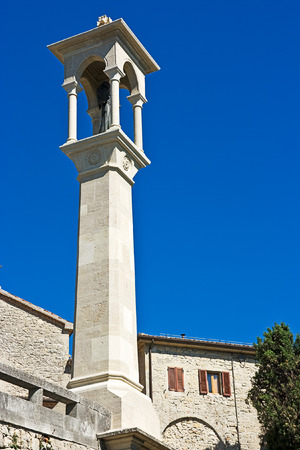 Obelisk with a sculpture of the sacred. San Marino. Stock Photo - 1462907