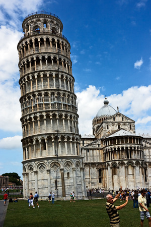 Pisa tower at the Miracle field. Italy. Stock Photo - 1479486