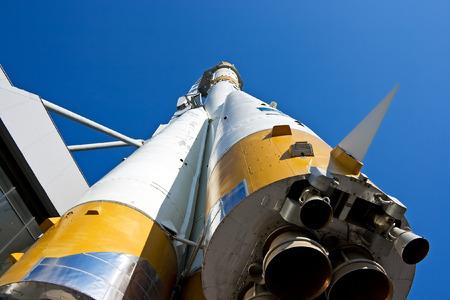 return trip: The Russian space transport rocket. A museum piece. Samara. Russia.