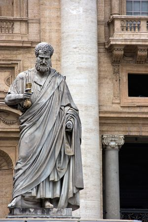 basilica of saint peter: Sculpture of St. Peter in Vatican. Europe.