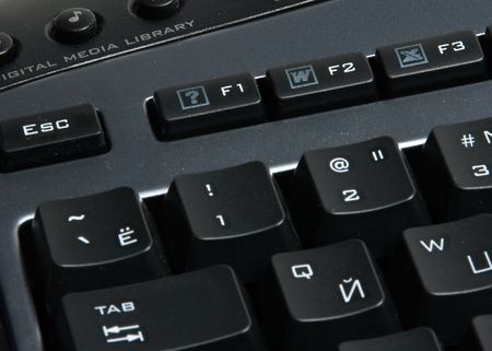 padding: Part of computer keyboard with f1 button