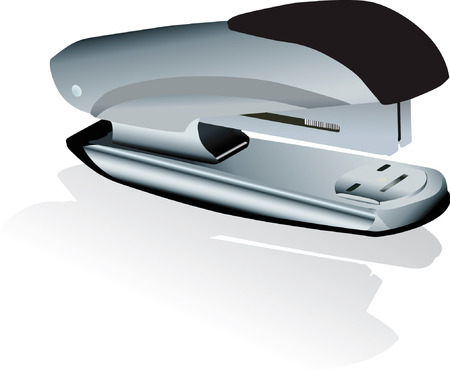 stapling: Vector illustration of  staplers with dropped  shadow
