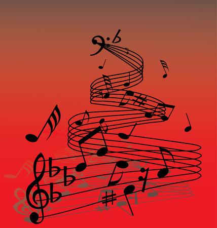 semiquaver: Abstract musica di fondo con diverse note e le linee  Vettoriali