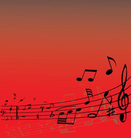 semiquaver: Abstract musica di fondo con diverse note e le linee