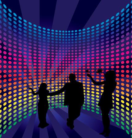 Disco dance background. Vector illustration. Vector