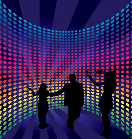 computer clubs: Disco dance background. Vector illustration.