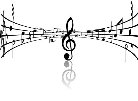 viertelnote: Zusammenfassung Hintergrund-Musik mit verschiedenen Noten und Linien