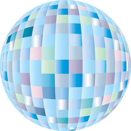 Disco sphere equipment in three-dimensions shape Stock Vector - 3016508