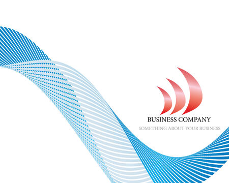 Abstract company page with label and perspective Vector