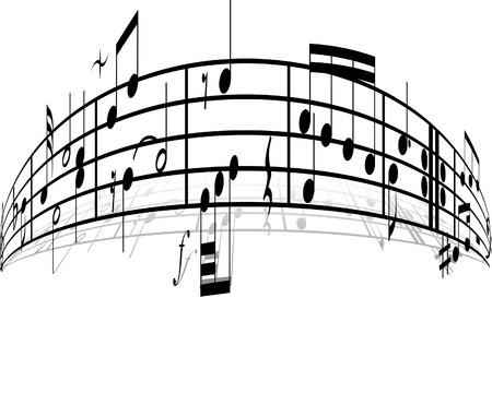 semiquaver: Sottofondo di musica con diverse note sul bianco
