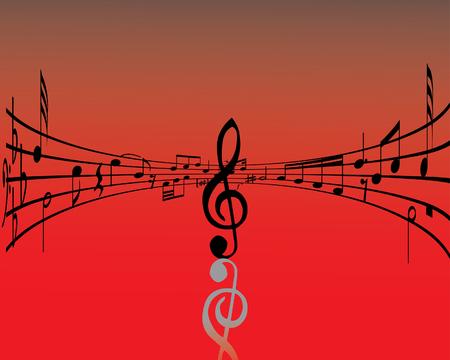 Résumé musique avec différentes notes et les lignes  Vecteurs