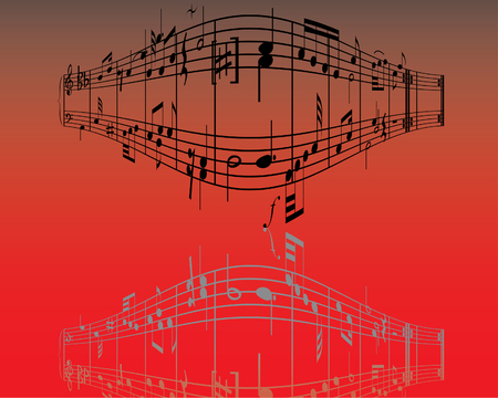 semiquaver: Astratto musica di fondo con diverse note e le linee