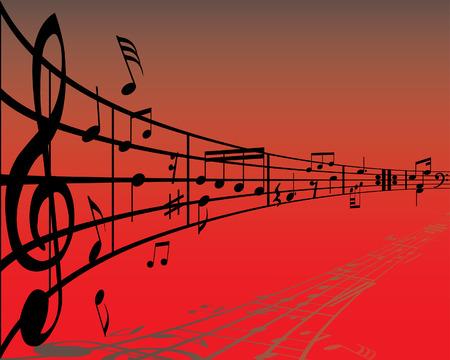 clave de fa: Resumen de m�sica de fondo con diferentes notas y l�neas