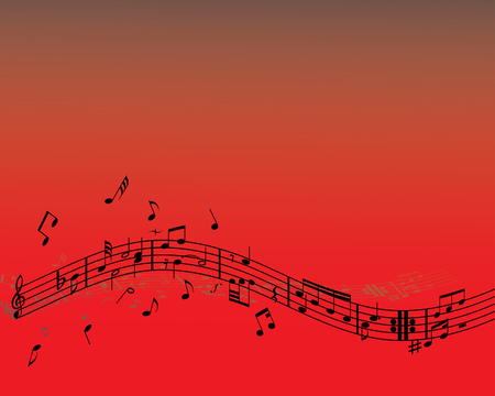 semiquaver: Abstract music background with different notes and lines