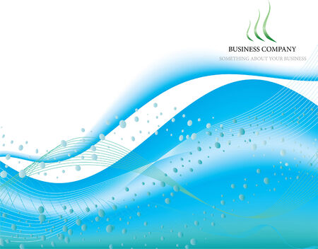 water logo: Pattern for use in bussines company sites