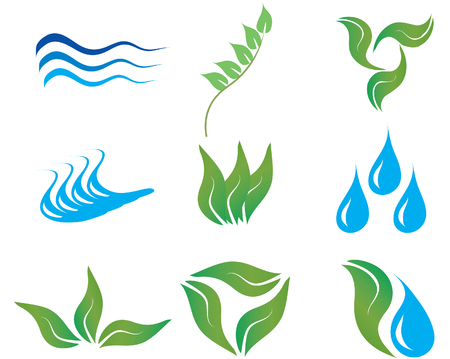 river vector: Ecology and botanic icons for design use