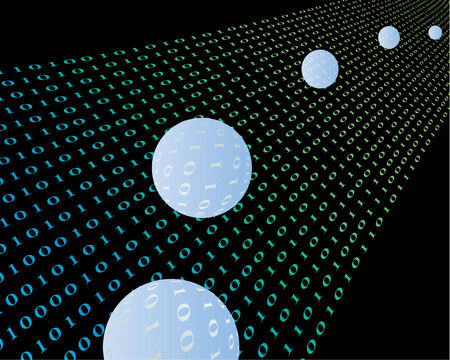 usage: Digital pattern in sphere shape for design usage
