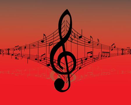 semiquaver: Sfondo musica astratta con note differenti e linee