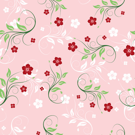 painted image: Floral seamless background for yours design usage Illustration