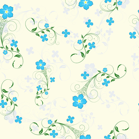 Floral seamless background for yours design usage Illustration