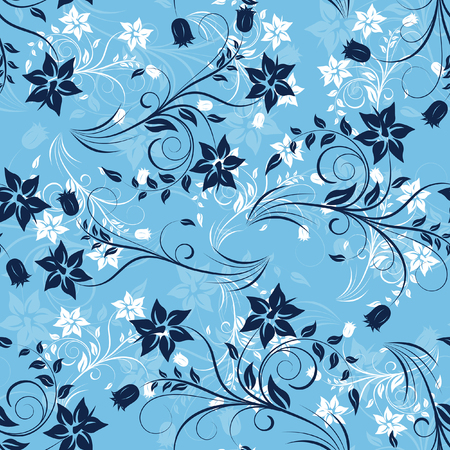 usage: Floral seamless background for yours design usage. For easy making seamless pattern just drag ol group into swatches bar, and use it for filling any contours.