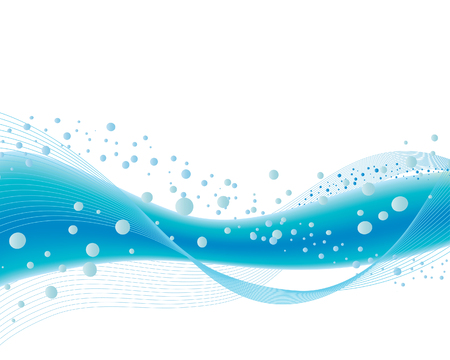 Abstract vector background with ocean waves on the white Vector