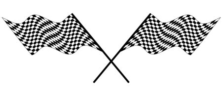 Black and white checked racing flag. Vector illustration.  Vector