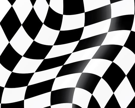 Black and white checked racing flag. Vector illustration.  Illustration