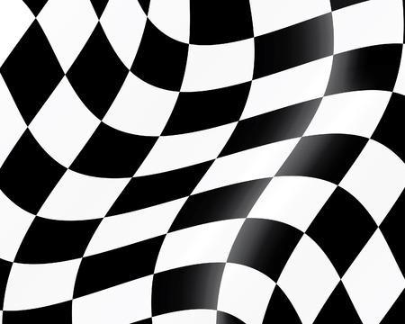 шашка: Black and white checked racing flag. Vector illustration.  Иллюстрация
