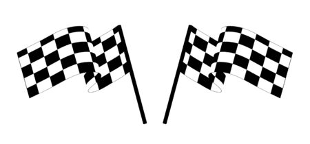 Black and white checked racing flag. Vector illustration. Stock Vector - 3325690