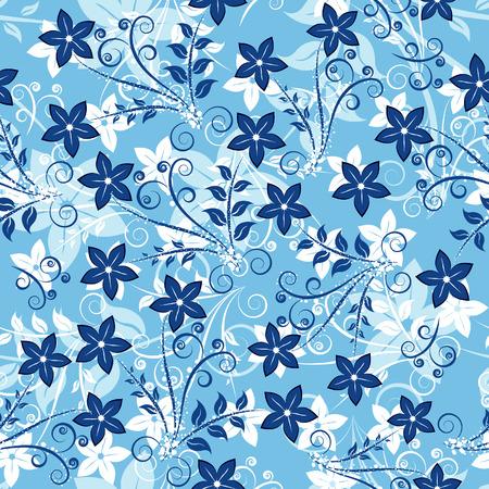 Floral bezszwowe tło dla Ciebie projektowania użytkowania. Aby ułatwić dokonywanie bezszwowe wzór prostu przeciągnij wszystkie grupy w swatches bar, oraz wykorzystanie go do wypełniania wszelkich konturów. Ilustracje wektorowe