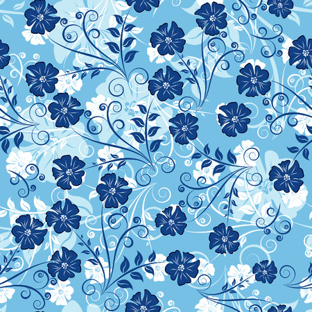 Floral seamless background for yours design use. For easy making seamless pattern just drag all group into swatches bar, and use it for filling any contours. Stock Vector - 3325693