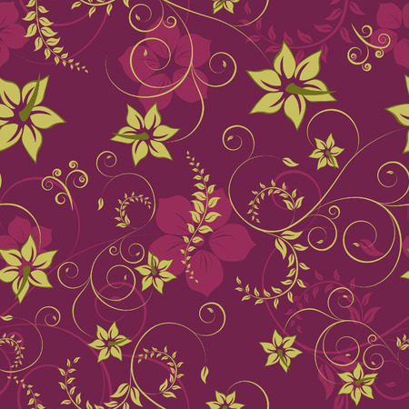 Floral seamless background for yours design use. For easy making seamless pattern just drag all group into swatches bar, and use it for filling any contours. Stock Vector - 3331208