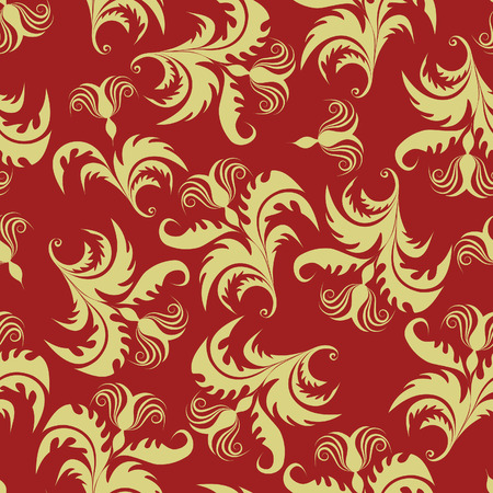 Floral seamless background for yours design use. For easy making seamless pattern just drag all group into swatches bar, and use it for filling any contours. Stock Vector - 3343780