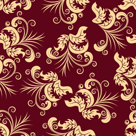 Floral seamless background for yours design use. For easy making seamless pattern just drag all group into swatches bar, and use it for filling any contours. Stock Vector - 3350580
