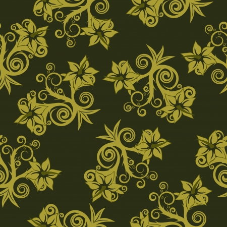 Floral seamless background for yours design use. For easy making seamless pattern just drag all group into swatches bar, and use it for filling any contours. Stock Vector - 3363697