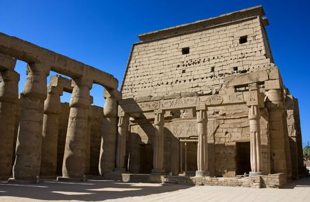 social history: Inside of Luxor tepmle. Ancient egyptian culture.
