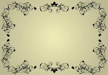 free vector art: Abstract vintage background frame for design use