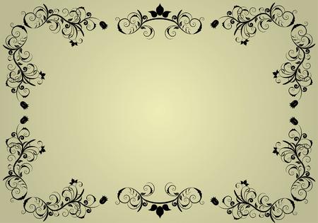 linee vettoriali: Abstract vintage cornice di fondo per la progettazione uso