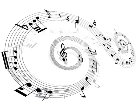 viertelnote: Noten Hintergrund mit Linien. Vector illustration. Illustration