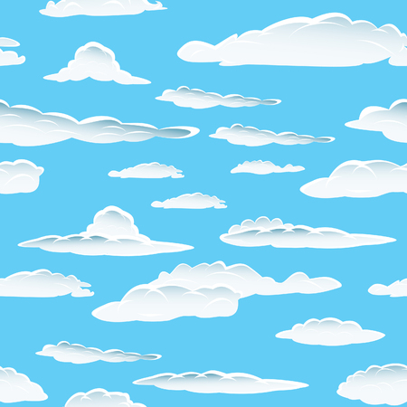 cloud sky: Seamless fluffy cloudy background for design use