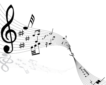 semiquaver: Note musicali con le linee di fondo. Vector illustration.