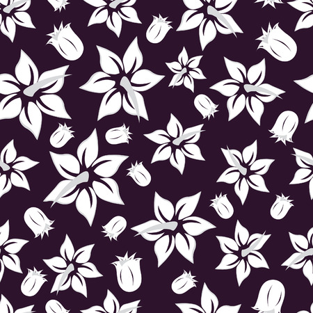 Floral seamless background for yours design use. For easy making seamless pattern just drag all group into swatches bar, and use it for filling any contours. Stock Vector - 3410033