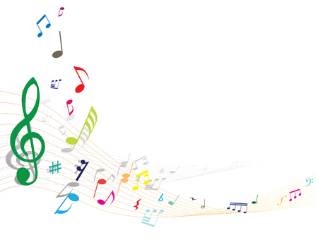 musical note: Abstract vector musical note background with lines