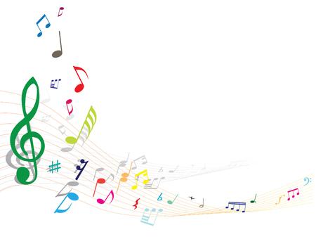 Abstract vettore nota musicale con le linee di fondo