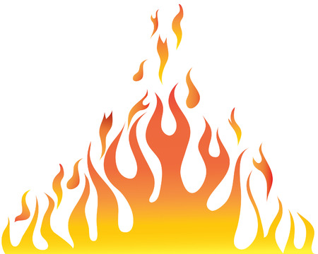 Vector illustrations body of flame on white background