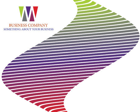 abstract company page with curved lines and gradients Illustration