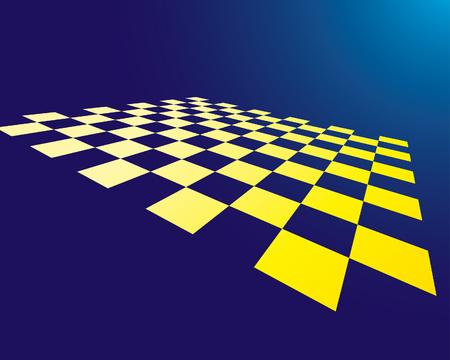 Abstract checked board whith dropping green glow Vector