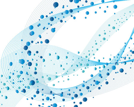Abstract water vector background with bubbles of air Vector
